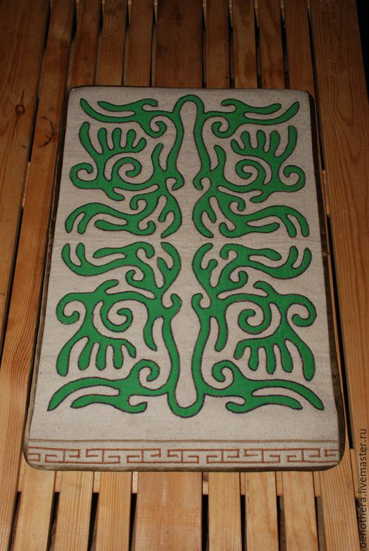 Текстиль, ковры ручной работы. Ярмарка Мастеров - ручная работа. Купить Декоративное пано. Handmade. Белый, войлочное пано