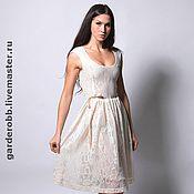 Одежда ручной работы. Ярмарка Мастеров - ручная работа Коктейльное платье из кружева. Handmade.