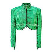 handmade. Livemaster - original item Frangia Python leather summer jacket. Handmade.