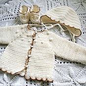 Работы для детей, ручной работы. Ярмарка Мастеров - ручная работа Набор одежды для крещения. Handmade.