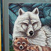 Картины и панно ручной работы. Ярмарка Мастеров - ручная работа Волки. Handmade.