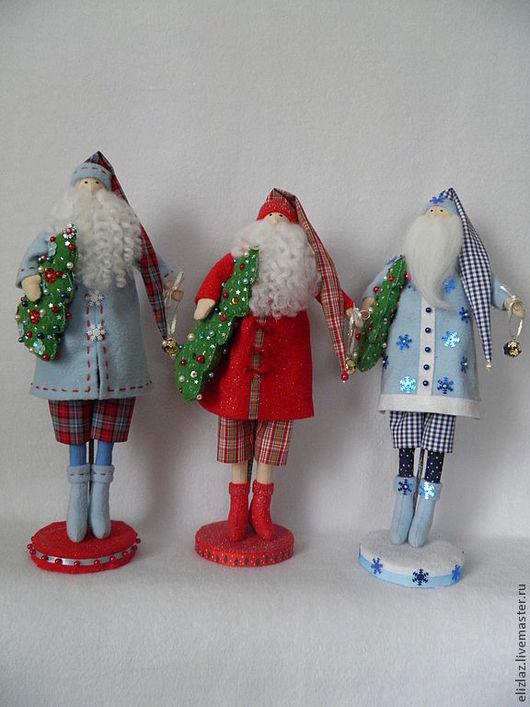 Куклы Тильды ручной работы. Ярмарка Мастеров - ручная работа. Купить Новогодний Санта. Handmade. Дед мороз, шерсть для валяния