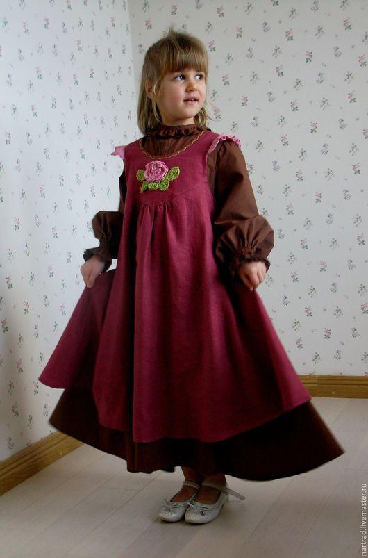 Одежда для девочек, ручной работы. Ярмарка Мастеров - ручная работа. Купить Платье  для девочки. Handmade. Фуксия, бохо-платье