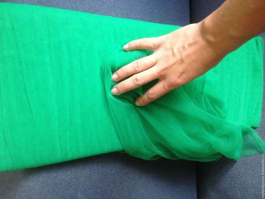 Шитье ручной работы. Ярмарка Мастеров - ручная работа. Купить Фатин ярко - зеленый. Handmade. Фатин ярко-зеленый