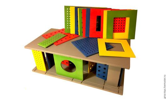 Развивающие игрушки ручной работы. Ярмарка Мастеров - ручная работа. Купить АРХИ_дом (игрушка-трансформер). Handmade. Домик, деревянные игрушки