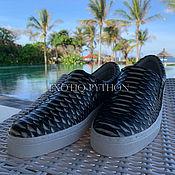 Обувь ручной работы handmade. Livemaster - original item Espadrilles from Python. Handmade.
