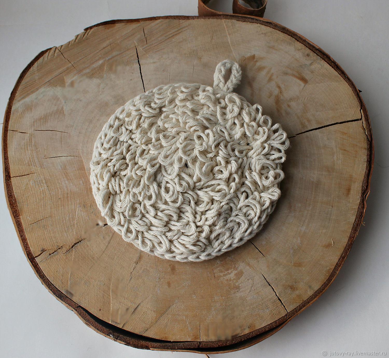 Washcloth on hand 'Soft cotton', Washcloths, Vologda,  Фото №1