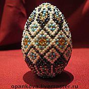 Подарки к праздникам ручной работы. Ярмарка Мастеров - ручная работа Яйцо из бисера. Handmade.