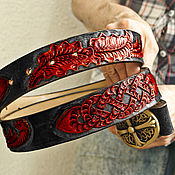 Аксессуары handmade. Livemaster - original item Leather men`s belt handmade. Handmade.