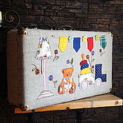 Сумки и аксессуары handmade. Livemaster - original item Interior suitcase for children`s room