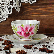 Посуда handmade. Livemaster - original item Decorative vase with painted