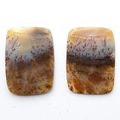 Материалы для творчества handmade. Livemaster - original item Set of moss agate cabochons No. 2-4. Handmade.