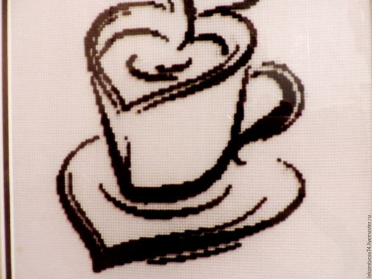 Символизм ручной работы. Ярмарка Мастеров - ручная работа. Купить Чашка кофе. Handmade. Коричневый, кофе, хлопок