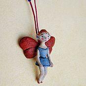 """Колье ручной работы. Ярмарка Мастеров - ручная работа Подвеска из дерева """"Голубая Фея"""". Handmade."""