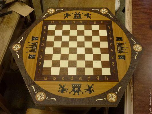 Мебель ручной работы. Ярмарка Мастеров - ручная работа. Купить Столешница Шахматная Маркетри. Handmade. Шахматы, шахматный столик