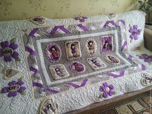 """Текстиль, ковры ручной работы. Ярмарка Мастеров - ручная работа. Купить """"Однажды в фиолетовой стране..."""". Handmade. Сиреневый, цветы"""