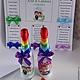 Свадебные аксессуары ручной работы. Свадебные бутылки Love is.... Студия дизайна 'Шпилька'. Ярмарка Мастеров. Бутылки на свадьбу