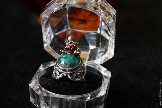 """Кольца ручной работы. Ярмарка Мастеров - ручная работа. Купить Серебряное кольцо с апатитом """"Гепард"""". Handmade. Серебряный, кольцо в подарок"""