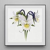 Картины и панно handmade. Livemaster - original item Wild violets. Handmade.