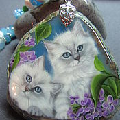 Украшения handmade. Livemaster - original item Pendant with kittens