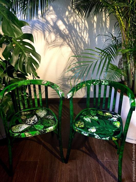 """Мебель ручной работы. Ярмарка Мастеров - ручная работа. Купить Кресла венские """"Листья"""". Handmade. Зеленый, из дерева, яркий"""