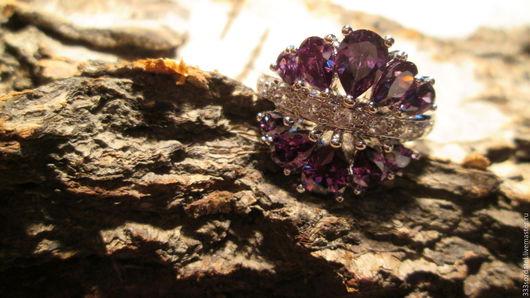 Кольца ручной работы. Ярмарка Мастеров - ручная работа. Купить кольцо 19.5 Королевство (аметист). Handmade. Фиолетовый, украшения