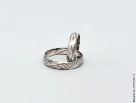 Свадебные украшения ручной работы. Ярмарка Мастеров - ручная работа. Купить Обручальные кольца в технике мокуме гане. Handmade. мокуме
