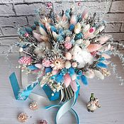 Букеты ручной работы. Ярмарка Мастеров - ручная работа Бирюзовый букет из сухоцветов. Handmade.