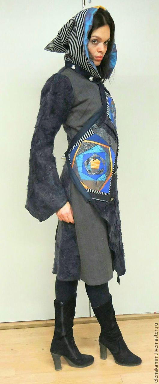 Верхняя одежда ручной работы. Ярмарка Мастеров - ручная работа. Купить Пальто с ярким узором 1. Handmade. Разноцветный