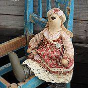 Куклы и игрушки ручной работы. Ярмарка Мастеров - ручная работа Зайка в бохо стиле. Игрушка интерьерная. Handmade.