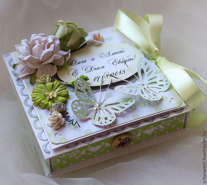 Открытки коробочки на свадьбу скрапбукинг