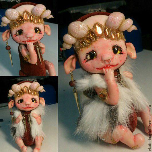 Коллекционные куклы ручной работы. Ярмарка Мастеров - ручная работа. Купить мифическое детя ( продан). Handmade. Коричневый