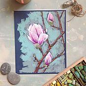 Картины и панно ручной работы. Ярмарка Мастеров - ручная работа Чувства магнолии. Handmade.