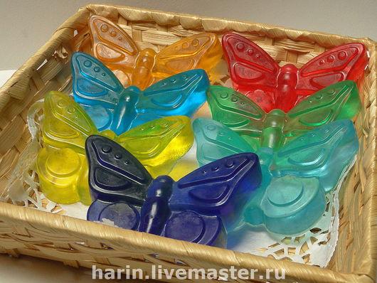 """Мыло ручной работы. Ярмарка Мастеров - ручная работа. Купить Мыло ручной работы   """"Радуга бабочек"""". Handmade. Бабочка"""