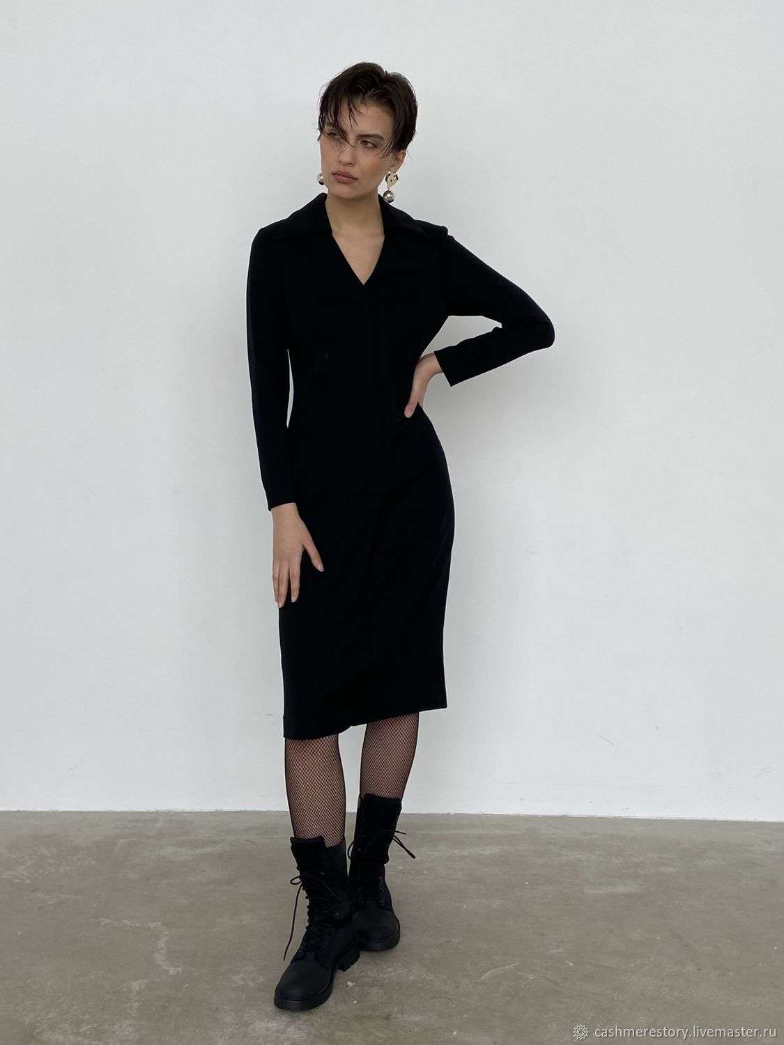 The dress is black with a false front closure, Dresses, Moscow,  Фото №1