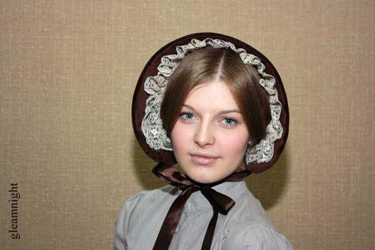 Шляпы ручной работы. Ярмарка Мастеров - ручная работа. Купить Бархатный боннет. Handmade. Исторический костюм, однотонный