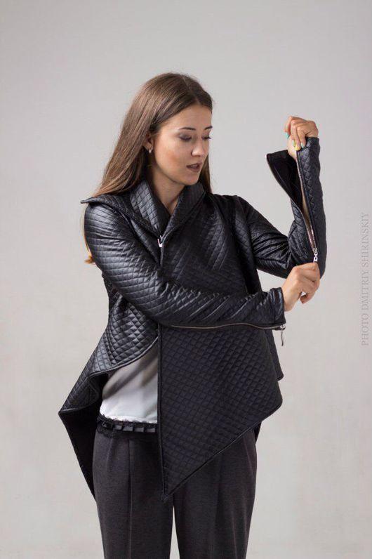 Верхняя одежда ручной работы. Ярмарка Мастеров - ручная работа. Купить Дизайнерская куртка. Handmade. Кожаная куртка, кожа искусственная