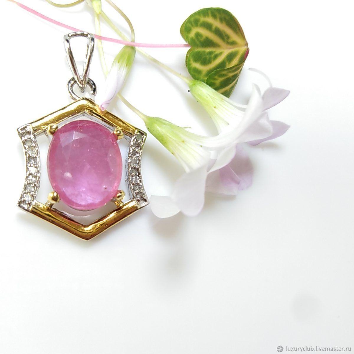 Chain necklace 'Asmik' diamonds ruby buy, Pendants, Tolyatti,  Фото №1