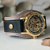 Украшения handmade. Livemaster - original item Babylon mechanical wristwatch on leather bracelet. Handmade.
