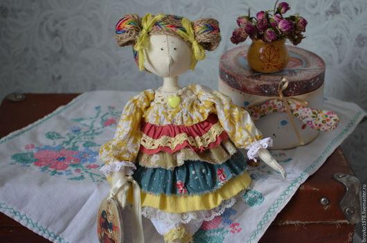 Куклы тыквоголовки ручной работы. Ярмарка Мастеров - ручная работа. Купить Фейка Мармеладка. Handmade. Желтый, кукла интерьерная