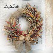 Цветы и флористика ручной работы. Ярмарка Мастеров - ручная работа Венок на дверь Осень на дворе. Handmade.