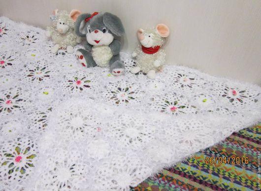 Текстиль, ковры ручной работы. Ярмарка Мастеров - ручная работа. Купить Одеялко нежное для девочки. Handmade. Белый, одеяло для новорожденного