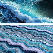 Для дома и интерьера ручной работы. Ярмарка Мастеров - ручная работа Из пены морской-вязаный плед. Handmade.