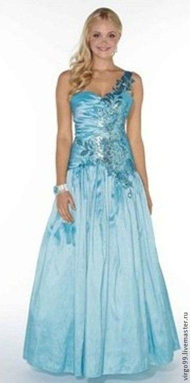 Платье длинное, в пол.