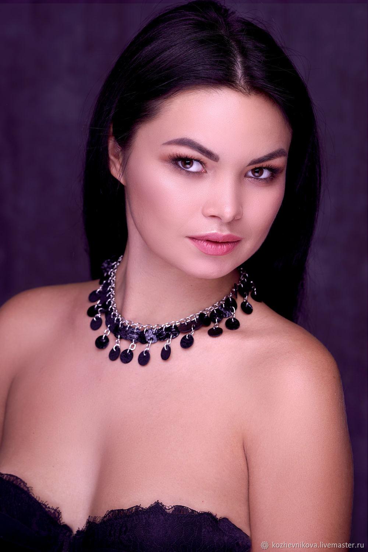 Choker-black leather bracelet, Necklace, Nizhnij Tagil,  Фото №1