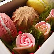 """Косметика ручной работы. Ярмарка Мастеров - ручная работа Набор мыла """"Цветы для сладкоежки"""". Handmade."""