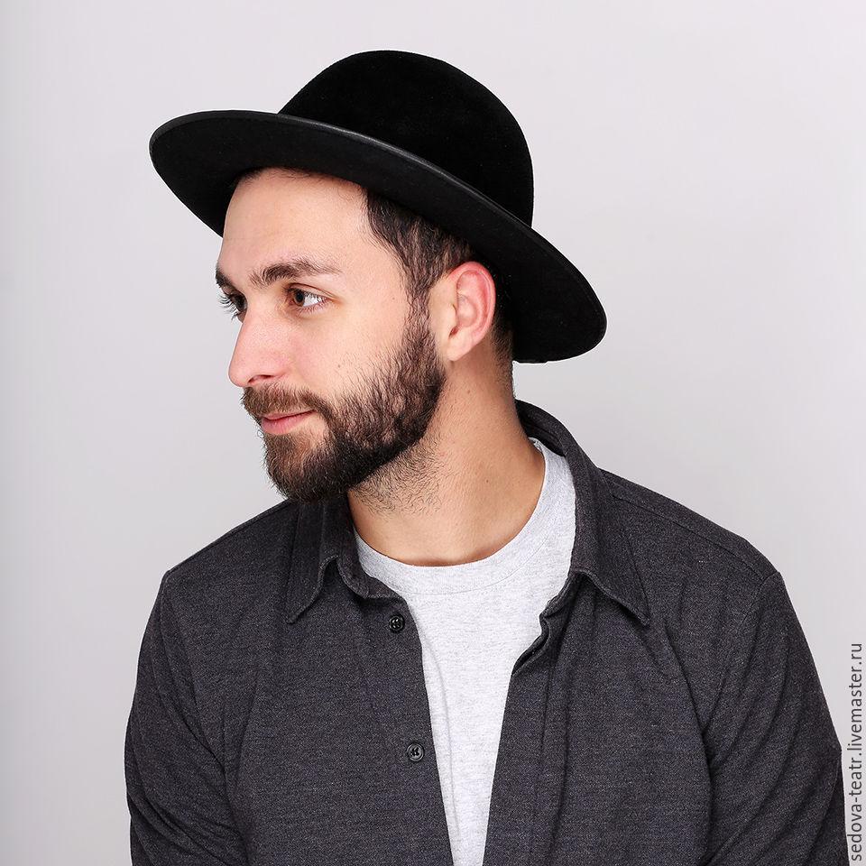Шляпа с широкими полями с м