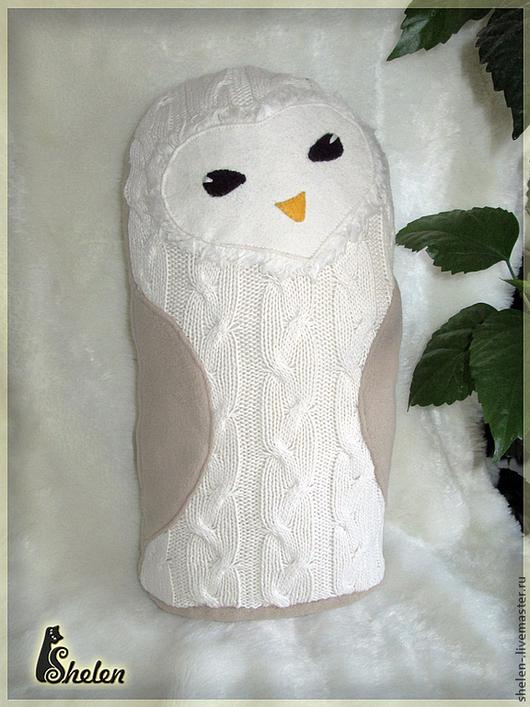 Текстиль, ковры ручной работы. Ярмарка Мастеров - ручная работа. Купить Сова полярная, игрушка подушка. Handmade. Сова, совунья