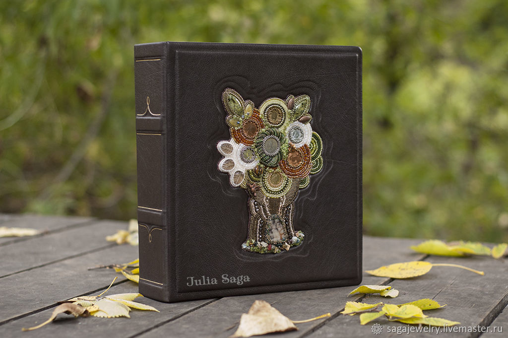 album for coins or Bon Tree of Life (brown genuine leather), Gifts for February 23, Moscow,  Фото №1
