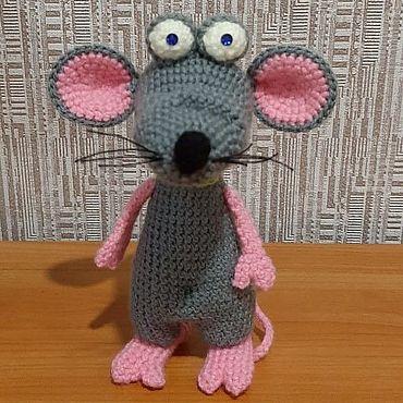 Куклы и игрушки ручной работы. Ярмарка Мастеров - ручная работа Игрушки: мышка. Handmade.